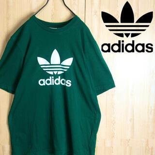 アディダス(adidas)のadidas アディダス Tシャツ デカロゴ グリーン 大きめ(Tシャツ/カットソー(半袖/袖なし))