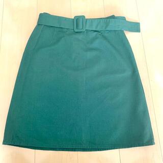 エヘカソポ(ehka sopo)のエヘカソポ ベルト付き スカート(ひざ丈スカート)