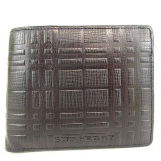 バーバリー(BURBERRY)のバーバリー 美品 二つ折り財布 レザー 3-208(折り財布)