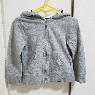 ニシマツヤ(西松屋)のキッズ 長袖フード付きパーカー  100(ジャケット/上着)