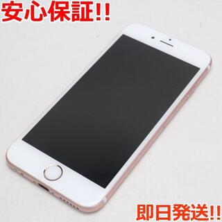 アイフォーン(iPhone)の超美品 SIMフリー iPhone6S 16GB ローズゴールド (スマートフォン本体)