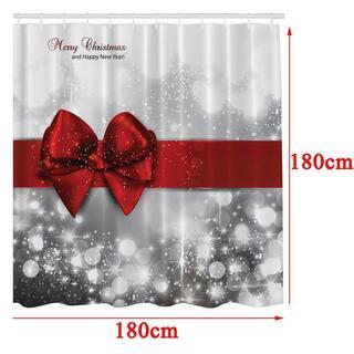 シャワーカーテン クリスマス装飾(小道具)