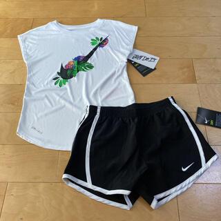 ナイキ(NIKE)のナイキ キッズ 女の子 ガールズ ショートパンツ  ショーパン 半袖 tシャツ(Tシャツ/カットソー)