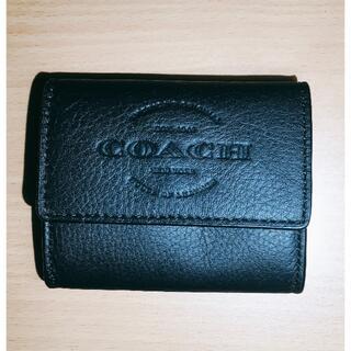 コーチ(COACH)の【新品】COACH 型押しロゴ コインケース F24652 ブラック(コインケース/小銭入れ)