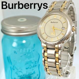 バーバリー(BURBERRY)の60 バーバリー時計 メンズ腕時計 ソーラー時計 デイト入り 希商 アンティーク(腕時計(アナログ))