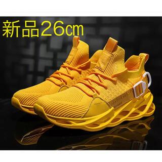 軽量ランニングシューズ 新品 26.0㎝ yellow(シューズ)