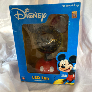 ディズニー(Disney)のDisney ミッキー LED Fan Battery Operated(扇風機)