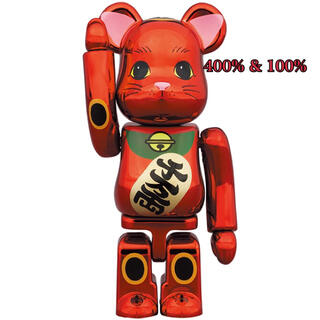 メディコムトイ(MEDICOM TOY)のBE@RBRICK 招き猫 梅金メッキ 100% & 400%(その他)