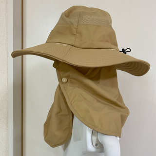 サンバイザー 日よけ帽子 フェイスマスク付き