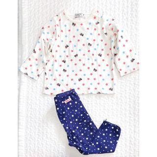 ダブルビー(DOUBLE.B)のDOUBLE-B 長袖 HOT BISCUITS レギンス 星 くま(Tシャツ)