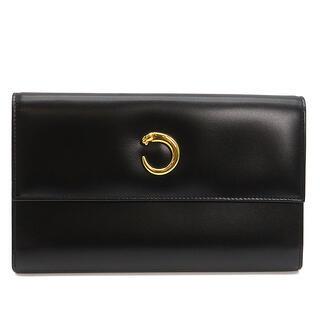Cartier - カルティエ  長財布  パンテール 三つ折り財布   ブラック