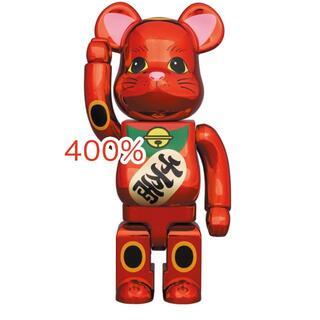 メディコムトイ(MEDICOM TOY)の400% BE@RBRICK 招き猫 梅金メッキ(キャラクターグッズ)