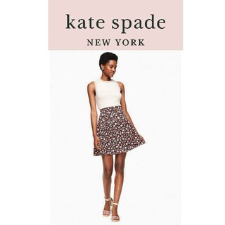 ケイトスペードニューヨーク(kate spade new york)の[未使用]kate spade ケイト・スペード 花柄スカート プリーツ(ミニスカート)
