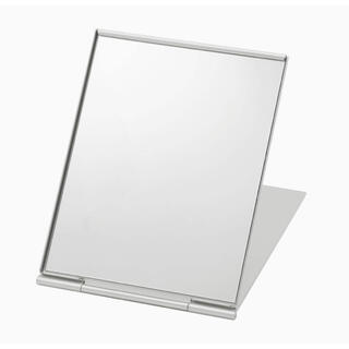 ムジルシリョウヒン(MUJI (無印良品))の無印良品 アルミ折りたたみミラー 鏡(卓上ミラー)