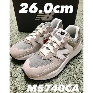 ニューバランス(New Balance)の【新品】M5740CA ホワイト グレー 26.0cm(スニーカー)