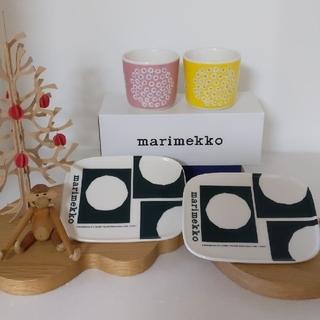 マリメッコ(marimekko)のmarimekko プケッティラテマグ&アニバーサリープレート 4点セット(食器)