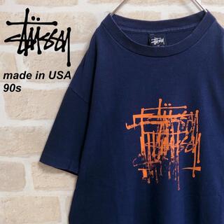 ステューシー(STUSSY)の【USA製】90s old stussy オールドステューシー Tシャツ 紺タグ(Tシャツ/カットソー(半袖/袖なし))
