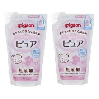 赤ちゃんの洗たく用洗剤 ピュア 720ml 詰替 2個 セット(おむつ/肌着用洗剤)