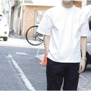 コモリ(COMOLI)のAURALEE STAND-UP TEE 4 white 白 オーラリー(Tシャツ/カットソー(半袖/袖なし))