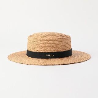 フルラ(Furla)の【美品】FURLA 麦わら帽子(麦わら帽子/ストローハット)