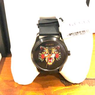 グッチ(Gucci)の【りゅー様専用】グッチ 腕時計 メンズ GUCCI YA1264021 ブラック(腕時計(アナログ))