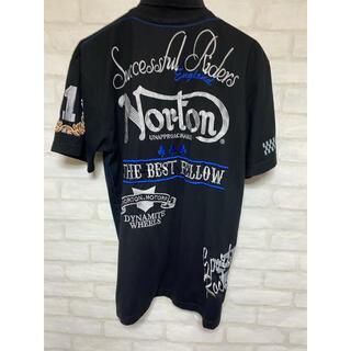 ノートン(Norton)のNorton ノートン 半袖シャツ XLサイズ 刺繍 バイク バイカー(Tシャツ/カットソー(半袖/袖なし))