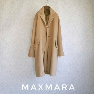 マックスマーラ(Max Mara)の超高級 マックスマーラ 最上級白タグ 憧れのオーバーサイズコート 大人気カラー(チェスターコート)