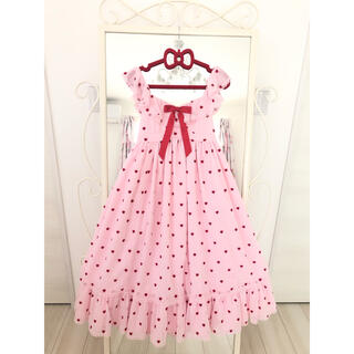 アンジェリックプリティー(Angelic Pretty)の【発送前-¥1000お値下げ】Petit Heartジャンパースカート♡(ロングワンピース/マキシワンピース)