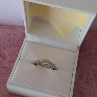 ディオール(Dior)のDior ディオール ラインストーン2連リボンリング 9号(リング(指輪))