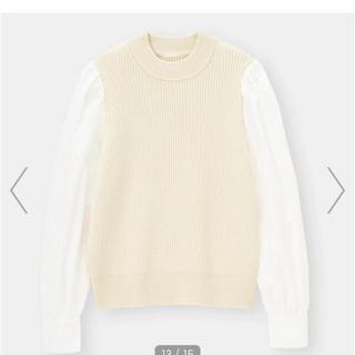 GU - 【GU】シャツスリーブコンビネーションセーター