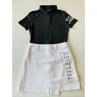 Titleist - ゴルフウエアノースリーブシャツゴルフスカート セット タイトリスゴルフ