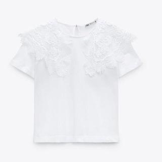 ザラ(ZARA)の完売ZARA襟付きTシャツ S(Tシャツ(半袖/袖なし))