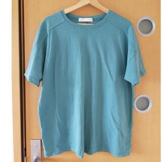 センスオブプレイスバイアーバンリサーチ(SENSE OF PLACE by URBAN RESEARCH)の【美品】センスオブプレイス♡ブルーグリーンビッグTシャツ(Tシャツ(半袖/袖なし))