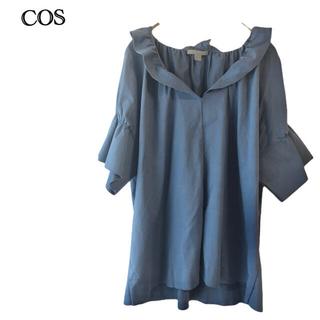 コス(COS)のCOS  コス   半袖  シャツ  フリル袖     夏コーデ(シャツ/ブラウス(半袖/袖なし))