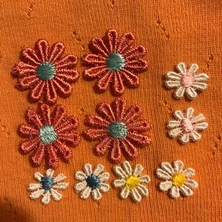 ワッペン お花 花 10枚セット 大きめ4枚 中6枚 刺繍ワッペン モチーフ(各種パーツ)