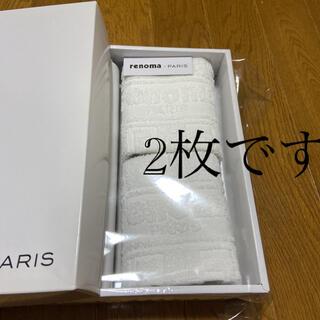 レノマ(RENOMA)のrenoma ウォッシュタオル 2枚(タオル/バス用品)
