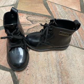 フタフタ(futafuta)のフタフタ futafuta  編み上げ レインブーツ 17センチ(長靴/レインシューズ)