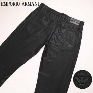 エンポリオアルマーニ(Emporio Armani)の大きいサイズ エンポリオアルマーニ セクシーフィット ブラックデニムパンツ (デニム/ジーンズ)