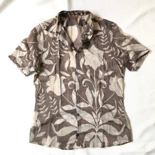 プラダ(PRADA)のPRADA 花柄シャツ ガーゼシャツ 総柄 半袖(シャツ)