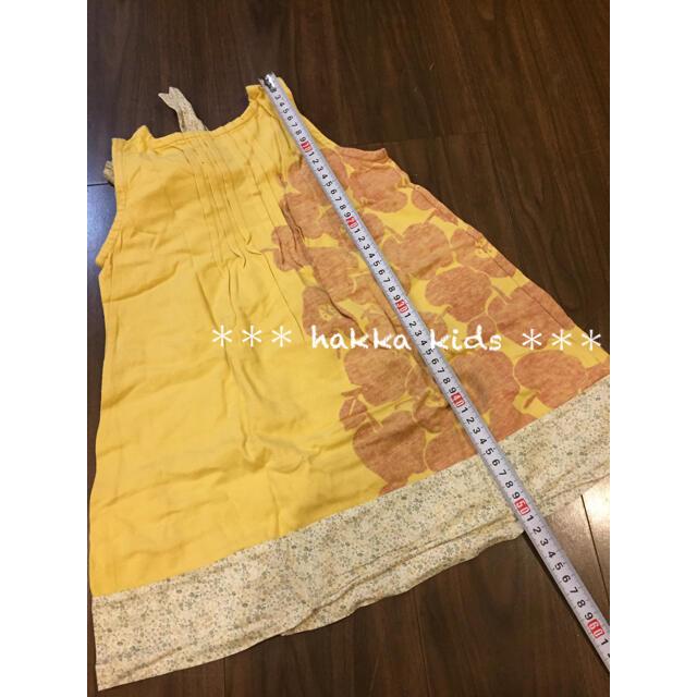 hakka kids(ハッカキッズ)のhakka kids ハッカキッズ リボンつき ノースリーブ ワンピース キッズ/ベビー/マタニティのキッズ服女の子用(90cm~)(ワンピース)の商品写真