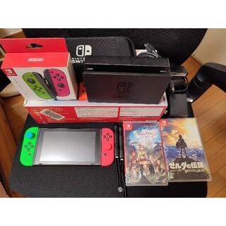 ニンテンドウ(任天堂)の任天堂 ニンテンドースイッチ 本体と新品Joy-Con とゲームセット(家庭用ゲーム機本体)