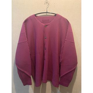 イッセイミヤケ(ISSEY MIYAKE)のhomme plisse issey miyake jacket(ノーカラージャケット)