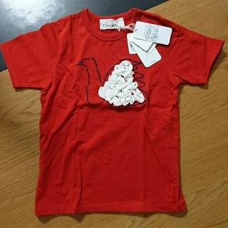 ミナペルホネン(mina perhonen)のminaperhonenミナペルホネン 半袖Tシャツ120 スワン 赤(Tシャツ/カットソー)