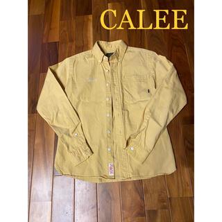 キャリー(CALEE)のキャリーCALEE長袖シャツイエローSサイズ(Tシャツ/カットソー(七分/長袖))