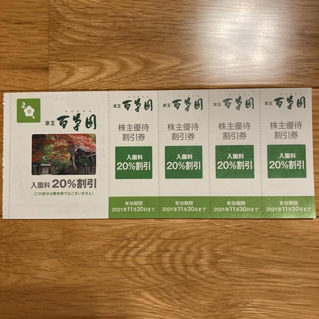 京王高尾山温泉 極楽湯、京王百草園、京王グリーンサービス割引券 チケットの優待券/割引券(その他)の商品写真