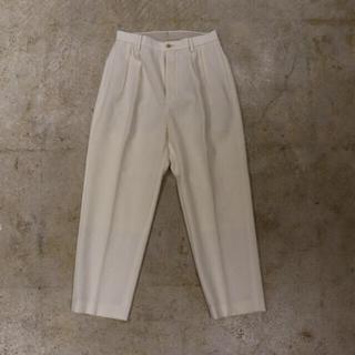 COMOLI - Phlannel Wool Linen 2-Pleated Trousers