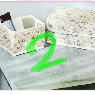 メゾンドフルール(Maison de FLEUR)のステディ付録2セットメゾンドフルール収納ボックス二点入り(小物入れ)