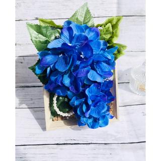 送料込み 紫陽花のインテリア フラワーアレンジメント パール ギフト贈り物父の日(その他)
