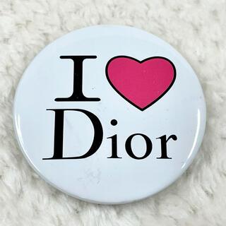 クリスチャンディオール(Christian Dior)のChristian Dior クリスチャン ディオール I❤️Dior 缶バッジ(ブローチ/コサージュ)