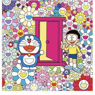 新品 村上隆 どこでもドア ドラえもんポスター サイン入り(版画)